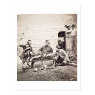 Hardships in the Camp (Colonel Lowe and Captains B Postcard