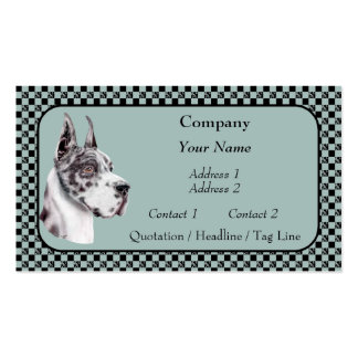 Harlequin Great Dane Show Colors Business Cards