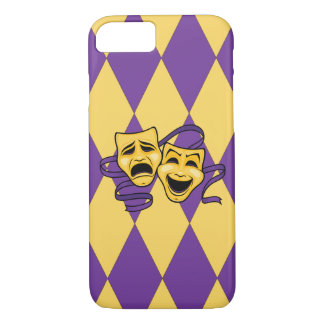 Harlequin Pattern Theatre Masks iPhone Case