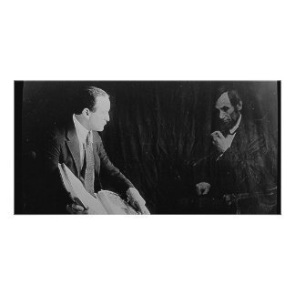 Harry Houdini and the Ghost of Abraham Lincoln Photo Card
