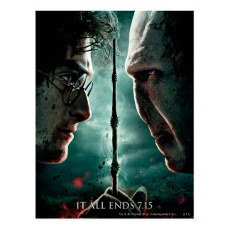 Harry Potter 7 Part 2 - Harry vs. Voldemort Postcard