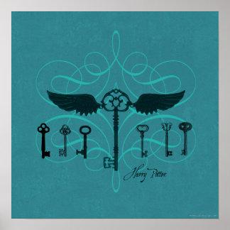 HARRY POTTER™ Flying Keys Poster