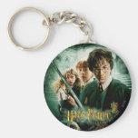 Harry Potter Ron Hermione Dobby Group Shot Basic Round Button Key Ring