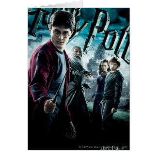 Harry Potter With Dumbledore Ron and Hermione 1 Greeting Card