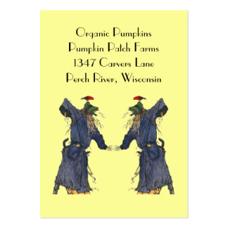 HARVEST SCARECROWS BASKET TAGS ~ GIFT TAG CARDS PACK OF CHUBBY BUSINESS CARDS