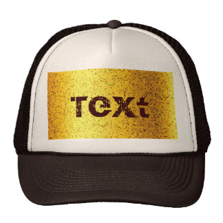 Hat Glitter Graphic Gold