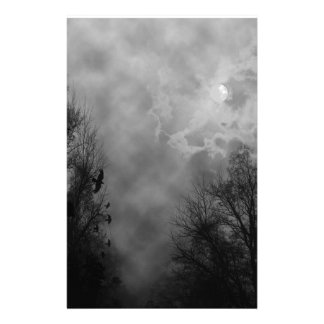 Haunted Gothic Sky Stationery Paper