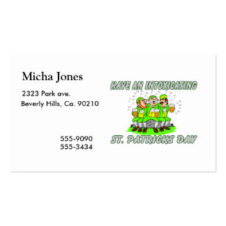 Have An Intoxicating St. Patrick's Day Pack Of Standard Business Cards