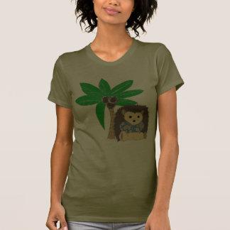 Hawaiian HedgeHog and Palm Tree T Shirts