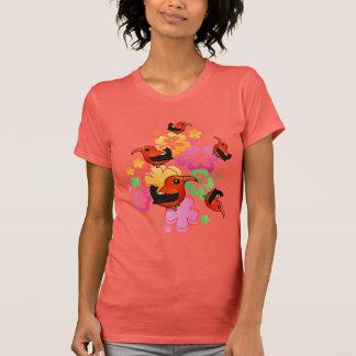 Hawaiian-style 'I'iwi Tee Shirts