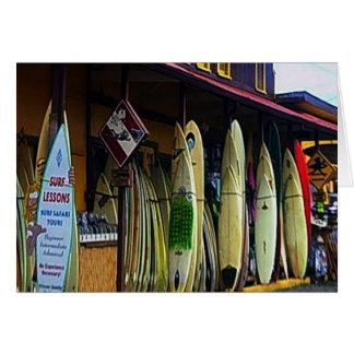Hawaiian Surfers Card