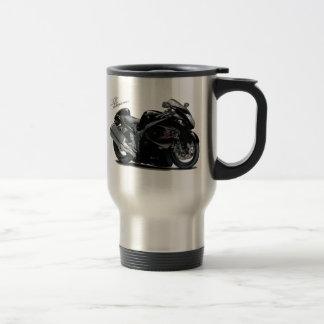Hayabusa Black Bike Stainless Steel Travel Mug