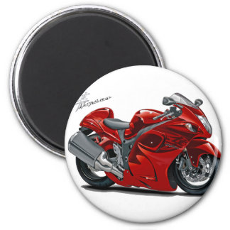 Hayabusa Red Bike 6 Cm Round Magnet