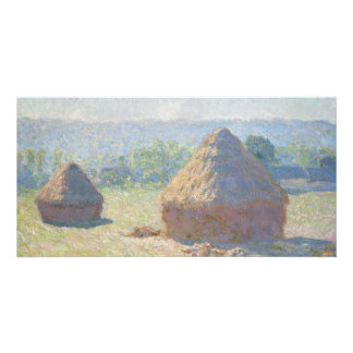 Haystacks, End of Summer by Claude Monet Photo Greeting Card