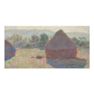 Haystacks, Midday by Claude Monet Customised Photo Card