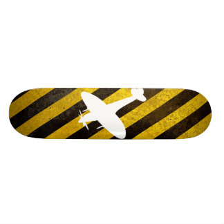 hazard, spitfire white skateboard deck