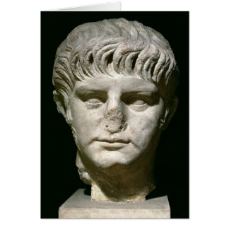 Head of Nero Greeting Card