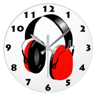HEADPHONES (RED) Wall Clock