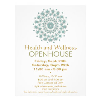 Healing Arts and Natural Health and Wellness 21.5 Cm X 28 Cm Flyer