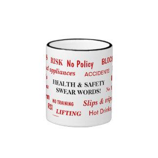 Health and Safety Swear Words Ringer Mug