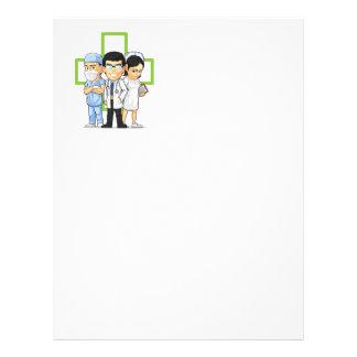 Health Care or Medical Staff - Doctor & Nurse 21.5 Cm X 28 Cm Flyer