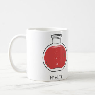 Health Potion: +100 Basic White Mug