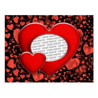 heart ART + your photo Postcard