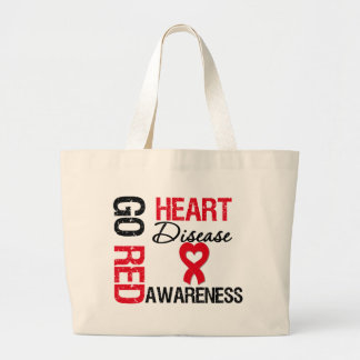 Heart Disease GO RED Jumbo Tote Bag