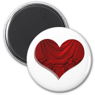 heart dramatic 6 cm round magnet
