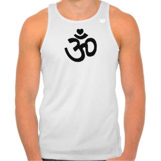 Heart Om Sign - Mens Yoga Tank Top