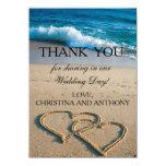 Heart on the Shore Beach Wedding Thank You Note 11 Cm X 16 Cm Invitation Card