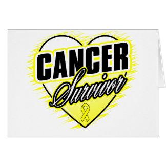 Heart Ribbon Survivor Bladder Cancer Greeting Card