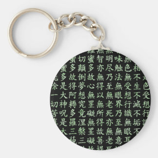 Heart Sutra (carrying young heart sutra) Basic Round Button Key Ring