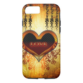 Heart with the word love iPhone 7 case