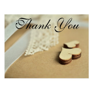 Hearts and Lace | Thank You Card Postcard