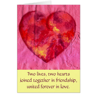 Hearts joined in Love Greeting Card