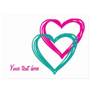 Hearts Postcard