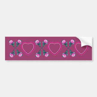 Hearts & Roses X's & O's Bumper Sticker