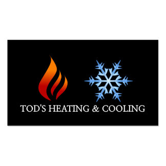 Heating & Cooling , Air Conditioning HVAC Pack Of Standard Business Cards