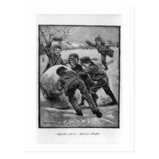 Heave Away! Vintage Victorian Christmas Postcard