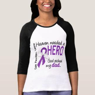 Heaven Needed Hero Dad Pancreatic Cancer Tee Shirts