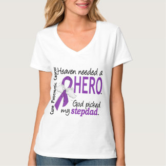 Heaven Needed Hero Stepdad Pancreatic Cancer Tshirts