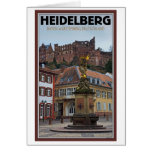 Heidelberg - Statue and Castle Greeting Card