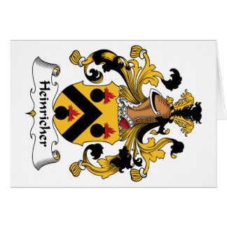 Heinricher Family Crest Greeting Card