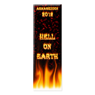 Hell on earth fire and flames. pack of skinny business cards