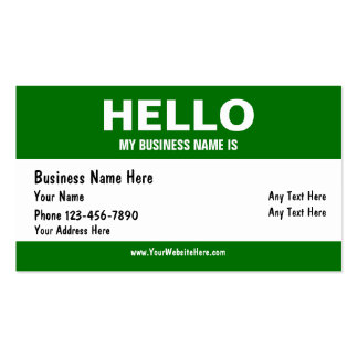 Hello Business Cards