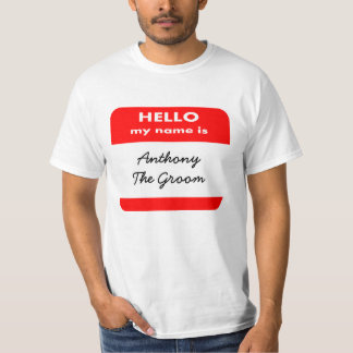 HELLO MY NAME IS T SHIRT,ADD UR FUNNY TEXT T-SHIRT