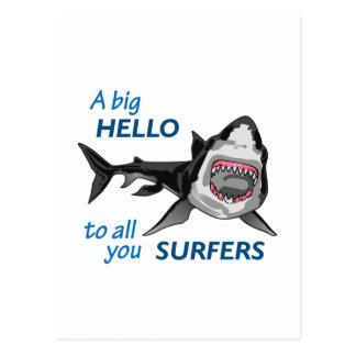 HELLO SURFERS POSTCARD
