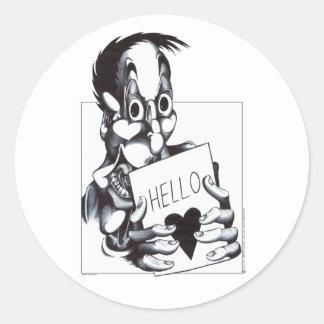Hello Sweetheart Round Sticker