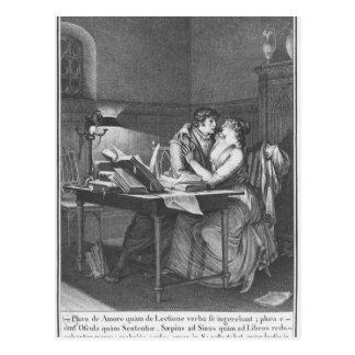 Heloise and Abelard in their study Postcard
